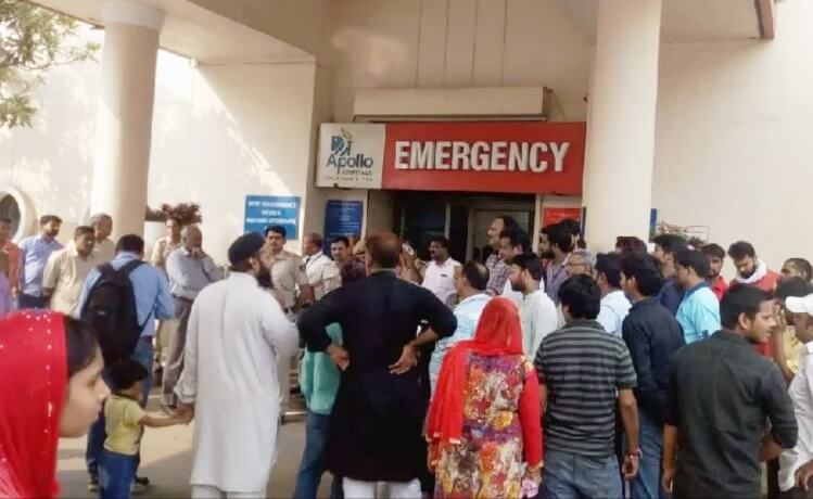 दिल्ली:अपोलो अस्पताल की लापरवाही ने ली मरीज की जान- आरोप